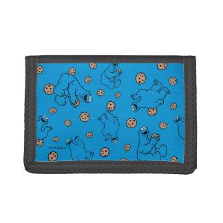 Monstre de biscuit et motif bleu de biscuits