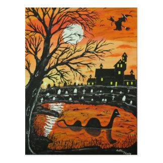 Monstre de Loch Ness ce Halloween Carte Postale