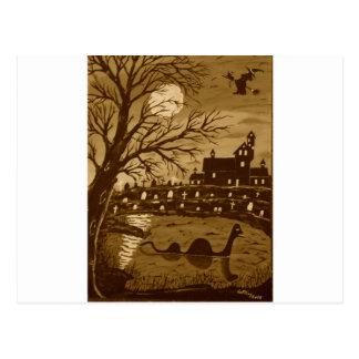 Monstre de Loch Ness Halloween Carte Postale