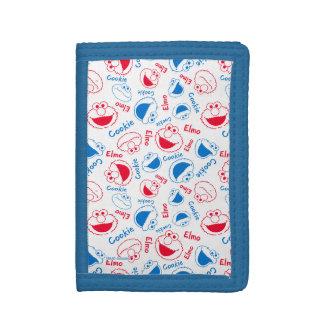 Monstre et Elmo de biscuit motif rouge et bleu de