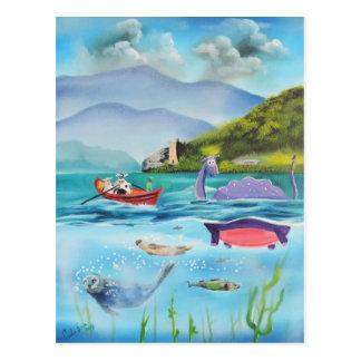 Monstre G de peinture sous-marin BRUCE de Loch Carte Postale