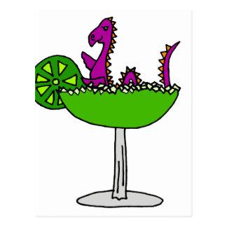 Monstre pourpre drôle de Loch Ness en margarita Carte Postale