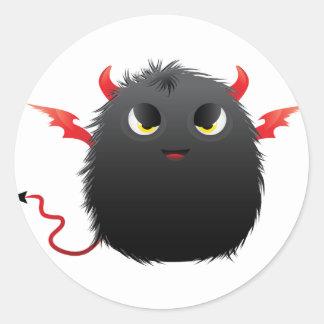 Monstre velu de Diablo Sticker Rond