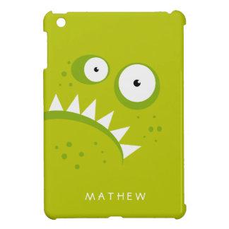 Monstre vert effrayant drôle fâché grincheux coque iPad mini