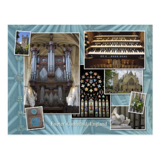 Montage Angleterre, carte postale de cathédrale