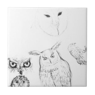 carreaux dessin de hibou dessin de hibou carreaux en c ramiques. Black Bedroom Furniture Sets. Home Design Ideas