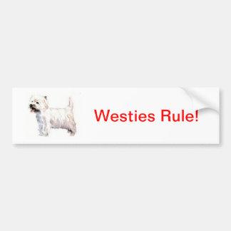 Montagne Terrier blanc occidentale Westie Autocollant De Voiture