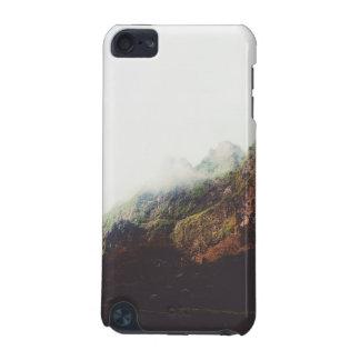 Montagnes brumeuses, scène de détente de paysage coque iPod touch 5G