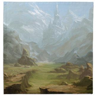 Montagnes et neige serviettes de table