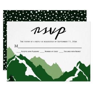 Montagnes vertes épousant la carte de réponse de