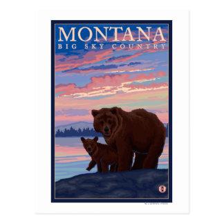 MontanaMomma draagt en werpt Vintage Reis Briefkaart