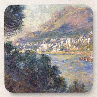 Monte Carlo vu de Roquebrune par Claude Monet Sous-bock