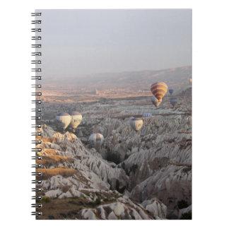 Monte en ballon le carnet de photo de vol