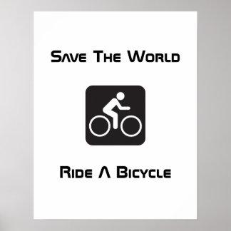 Montez une affiche de bicyclette