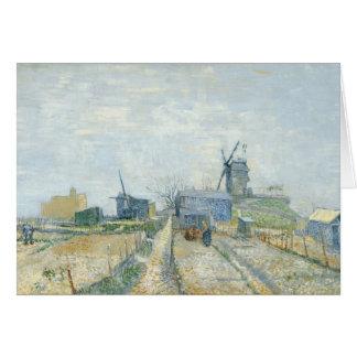 Montmartre : moulins à vent et attributions carte de vœux