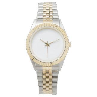Montre à deux tons unisexe de bracelet montres