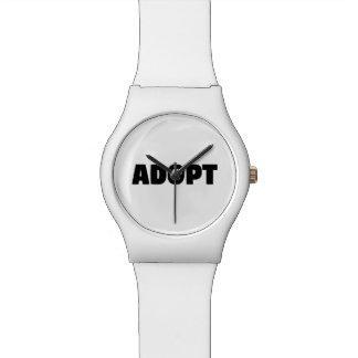 Montre Adoptez la montre-bracelet de chien de délivrance