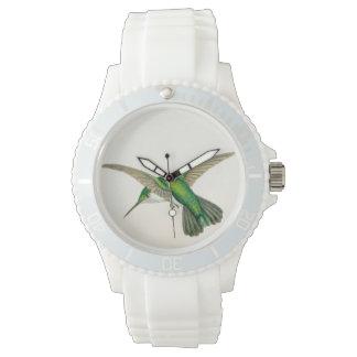 Montre Animaux de faune de fleurs d'oiseaux de colibri
