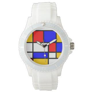 Montre Art moderne style Mondrian