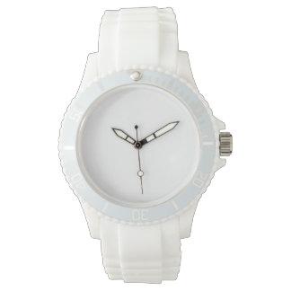 Montre blanche de silicium du sport des femmes montres bracelet