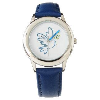 Montre bleue de scintillement d'enfants montres cadran