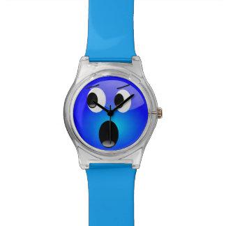 Montre bleue d'Emoji - montre d'enfant Montres Cadran
