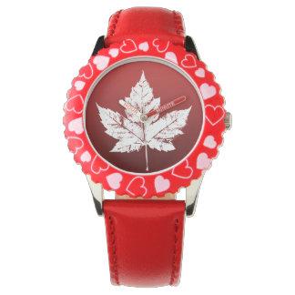Montre-bracelet de souvenir du Canada de l'enfant Montres Cadran