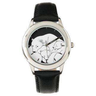 Montre-bracelet d'ours de la faune de l'enfant de montres bracelet
