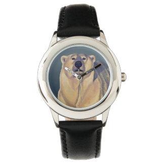Montre-bracelet d'ours de la faune de l'enfant de montres cadran