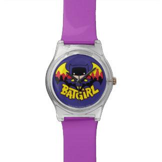 Montre Chibi Batgirl avec l'horizon et le logo de Gotham