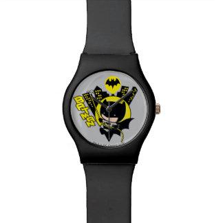 Montre Chibi Batman mesurant la ville