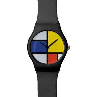 Montre Composition A - art moderne abstrait en Piet