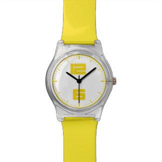 montre contemporaine du jaune may28th