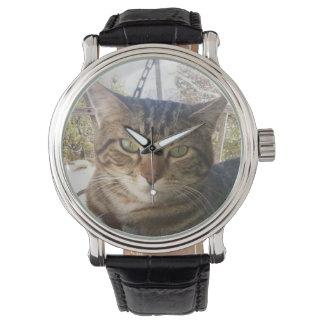 Montre cuir vintage noir de lachlantopcat