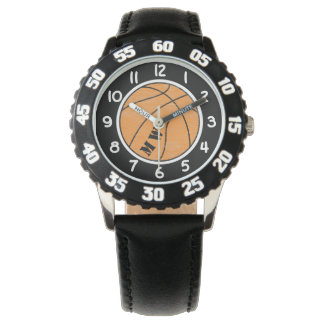 Montre de basket-ball de monogramme d'enfants