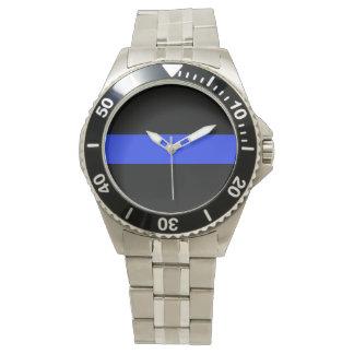 Montre de bracelet d'acier inoxydable de Blue Line