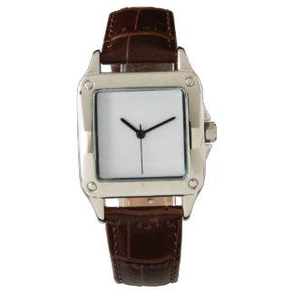Montre de bracelet en cuir de Brown du carré Montres Bracelet