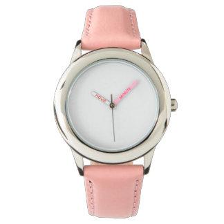 Montre de bracelet en cuir de rose d'acier montres cadran