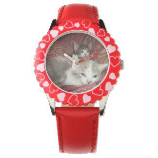 Montre de chaton d'enfants montres