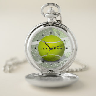 Montre de poche de conception de tennis