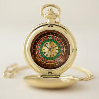 montre de poche de roue de roulette