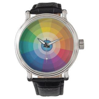 Montre de roue de couleur de globe oculaire