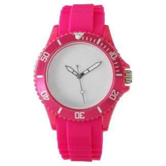 Montre de silicium de rose du sport des femmes montres bracelet
