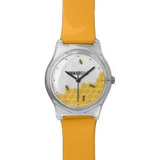 Montre d'enfants personnalisée par nid d'abeilles  montres bracelet