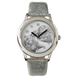 Montre d'hippopotame et de veau montres bracelet