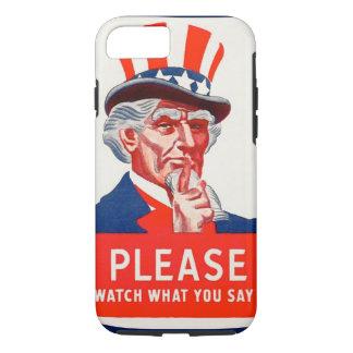 Montre d'Oncle Sam ce qui vous dites le cas dur de Coque iPhone 8/7