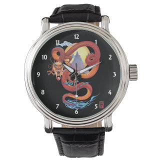 Montre Dragon rouge chinois