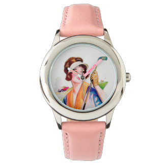 Montre du golf de la fille