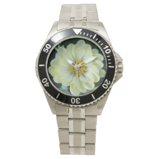 Montre Fleur jaune-clair de dahlia