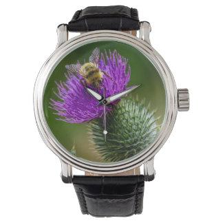 Montre Fleurs sauvages de pollination d'abeille de désert